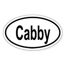 CABBY Oval Decal