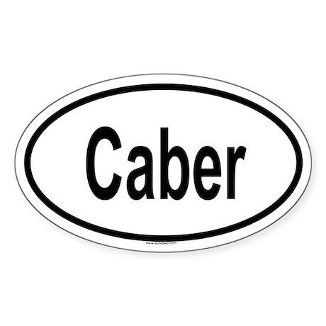 CABER Oval Sticker