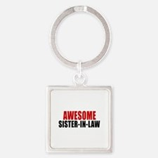 Awesome Sister-in-law Square Keychain