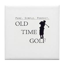 Old Time Golf Tile Coaster