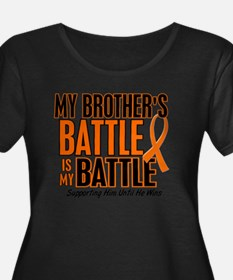 My Battle Too (Brother) Orange Plus Size T-Shirt