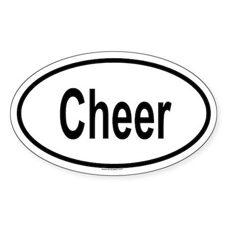 CHEER Oval Sticker