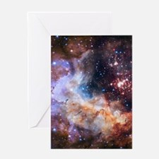 Cute Hubble telescope Greeting Card