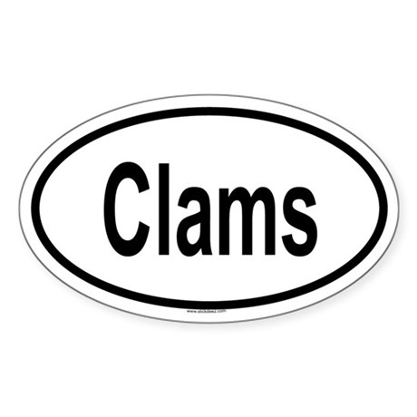 CLAMS Oval Sticker
