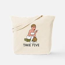Funny Take five Tote Bag