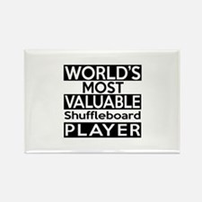 Most Valuable Shuffleboard Player Rectangle Magnet