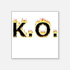 K.O. (Flames) Sticker