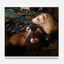 Adorable Ferrets Tile Coaster