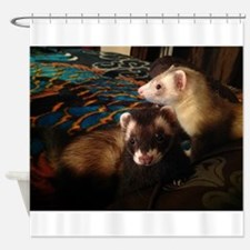 Adorable Ferrets Shower Curtain