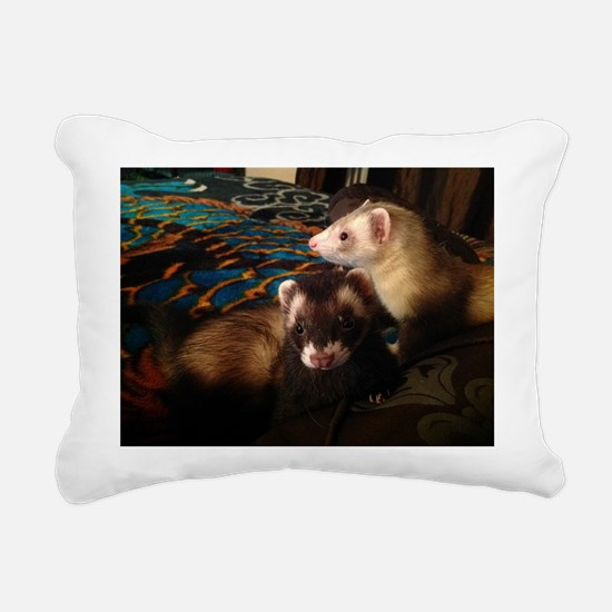Adorable Ferrets Rectangular Canvas Pillow