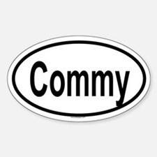 COMMY Oval Decal