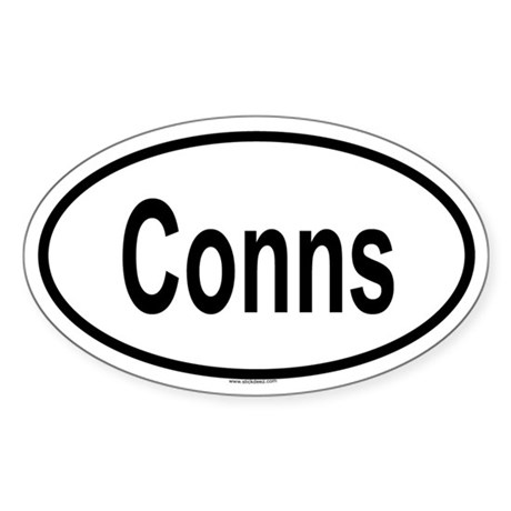 CONNS Oval Sticker