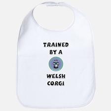 Trained by a Corgi Bib