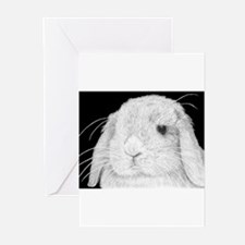 Lop Rabbit Greeting Cards