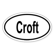 CROFT Oval Decal