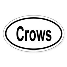 CROWS Oval Decal