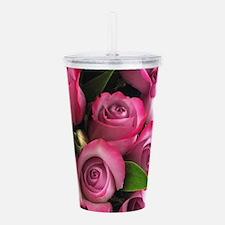 Giant Rose Design Acrylic Double-wall Tumbler