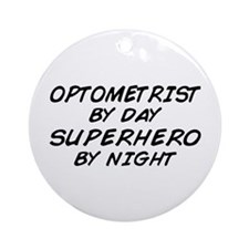 Optometrist Superhero Ornament (Round)