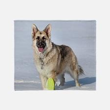 Snow pup Throw Blanket