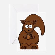 Cute Black squirrel Greeting Card