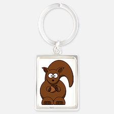 Cool Black squirrel Portrait Keychain