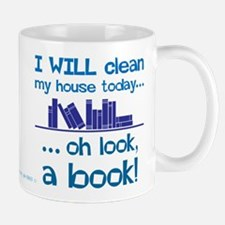 Clean house, Oh look! A Book! Mugs