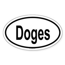 DOGES Oval Decal