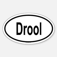 DROOL Oval Decal