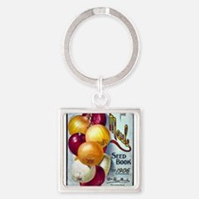 Onions on Maule Seed Book 1906 Square Keychain