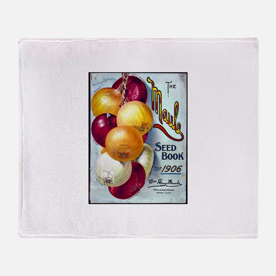 Onions on Maule Seed Book 1906 Throw Blanket