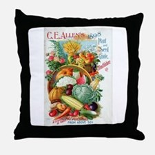 1898 Plant and Seed Guide Throw Pillow