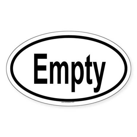 EMPTY Oval Sticker