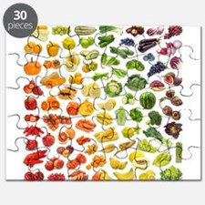 Fruits and Vegetables Rainbow Puzzle