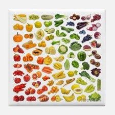 Fruits and Vegetables Rainbow Tile Coaster