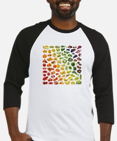 Fruits and Vegetables Rainbow Baseball Jersey