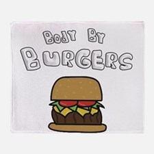 Body By Burgers Throw Blanket