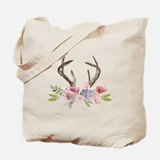 Rustic Watercolor Wildflower Bouquet and Antlers T