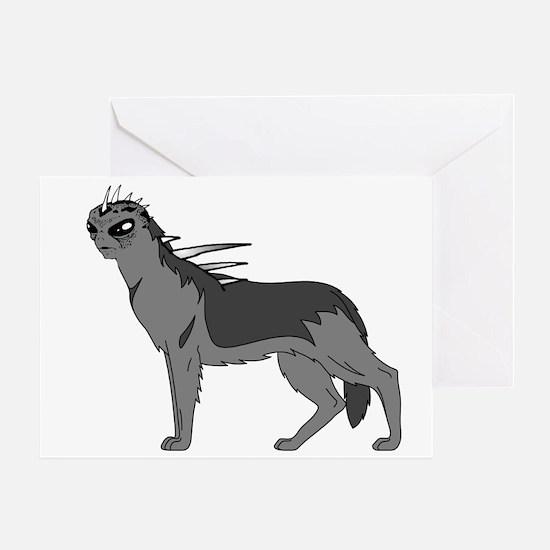 Dog-like Chupacabra Greeting Card
