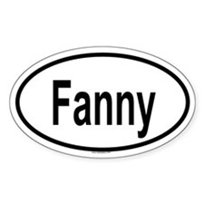 FANNY Oval Decal