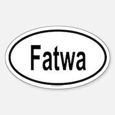 FATWA Oval Decal