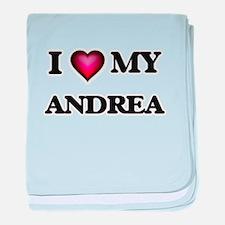 I love my Andrea baby blanket