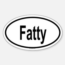 FATTY Oval Decal