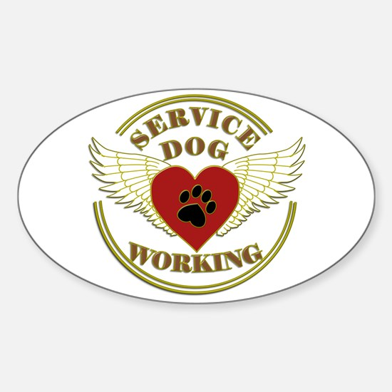 SERVICE DOG WORKING WINGS Decal