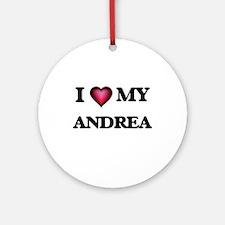 I love my Andrea Round Ornament