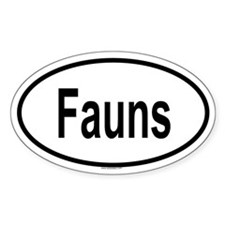 FAUNS Oval Decal