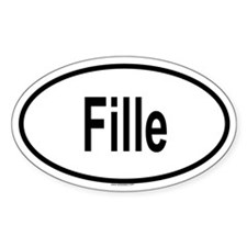 FILLE Oval Decal