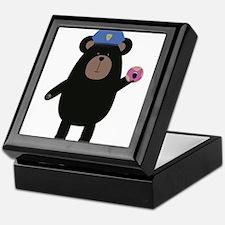 Black Bear Police Officer Keepsake Box