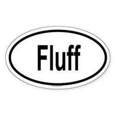 FLUFF Oval Decal