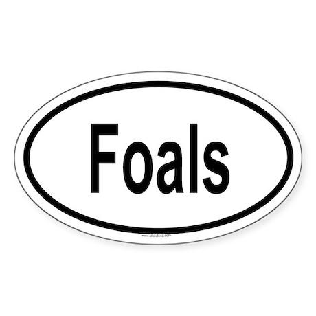 FOALS Oval Sticker