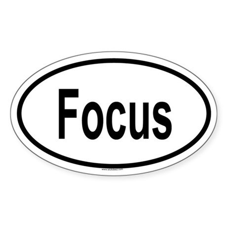 FOCUS Oval Sticker